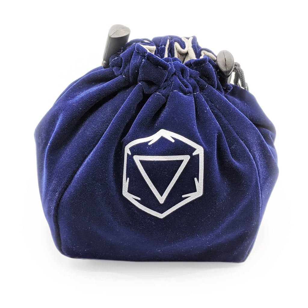 Velvet Standing Dice Bag - Blue - Imaginary Adventures