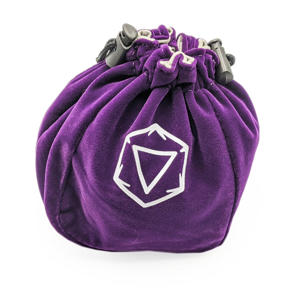 Velvet Standing Dice Bag - Purple - Imaginary Adventures