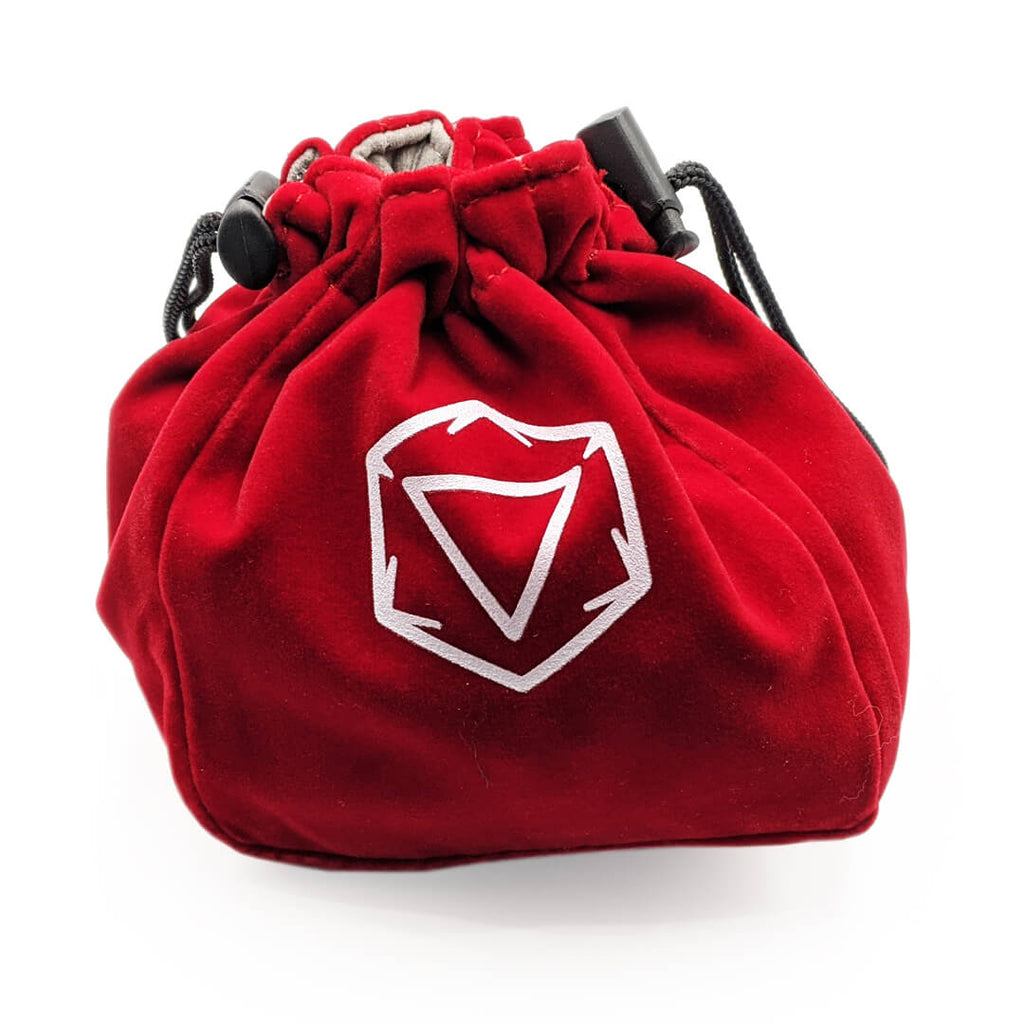 Velvet Standing Dice Bag - Red - Imaginary Adventures