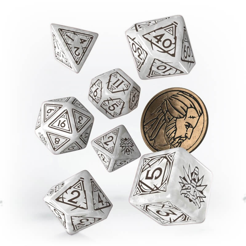 Witcher Dice - Geralt - White Wolf - PREORDER