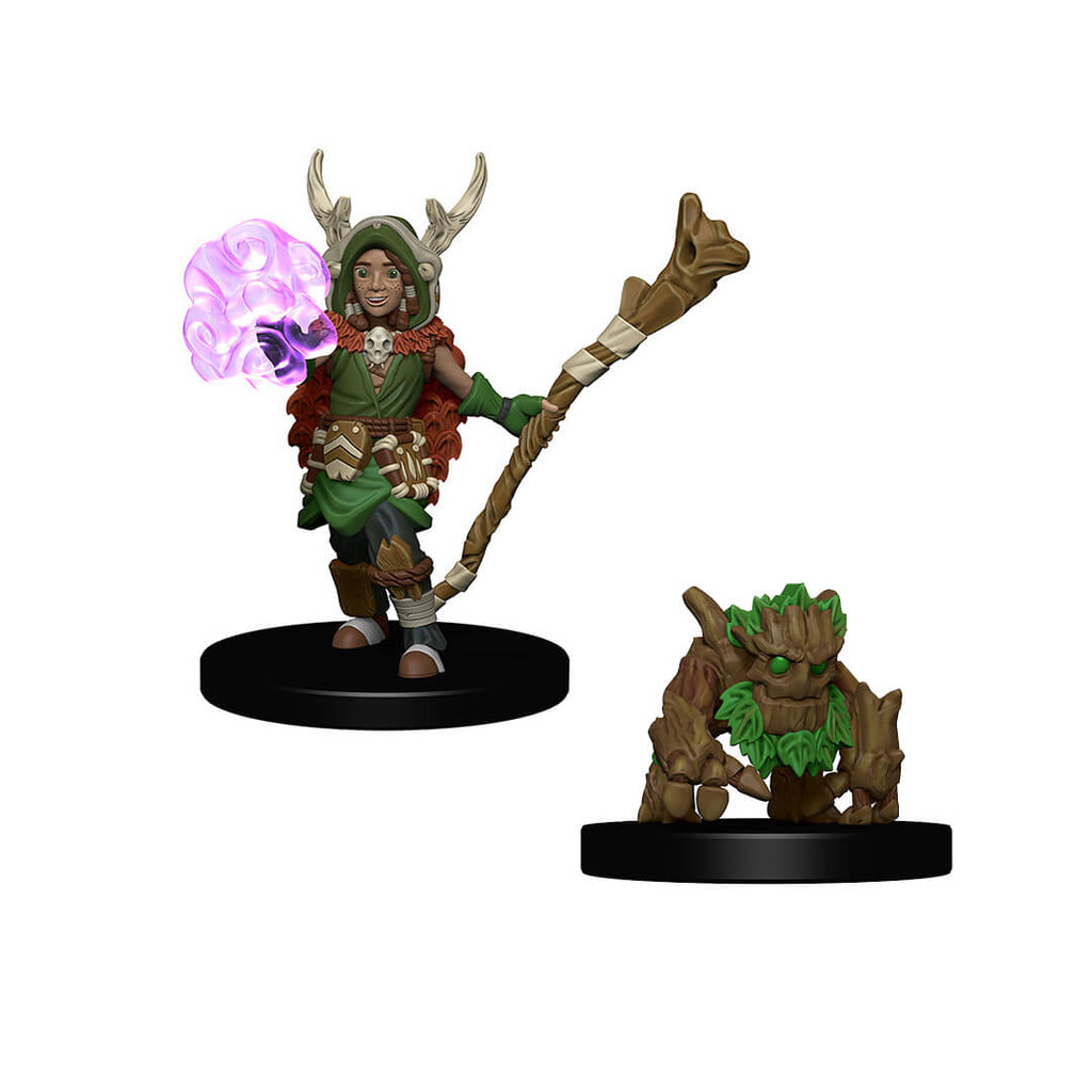 WizKids Wardlings RPG Figures - Boy Druid & Tree Creature