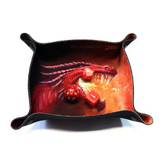 All Rolled Up Compact Dice Tray - Fiery Dragon - Imaginary Adventures