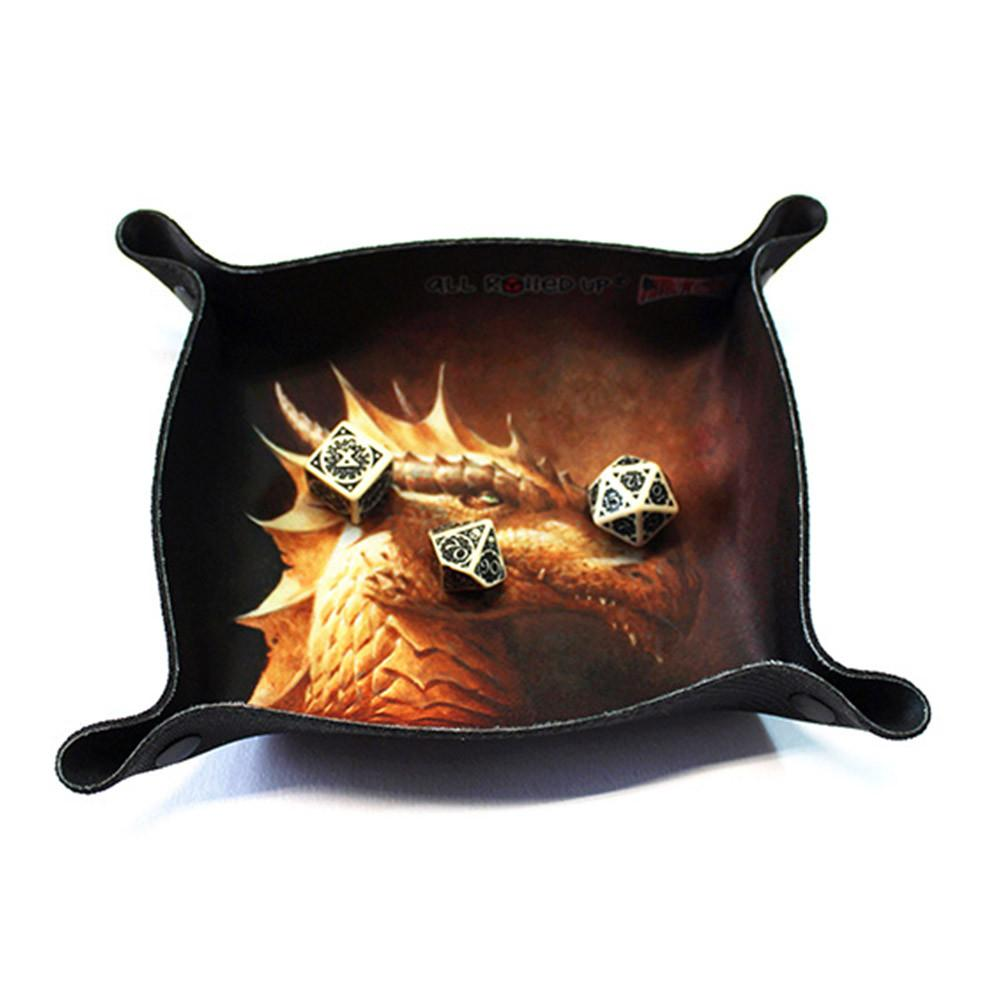 All Rolled Up Compact Dice Tray Regal Dragon Imaginary Adventures