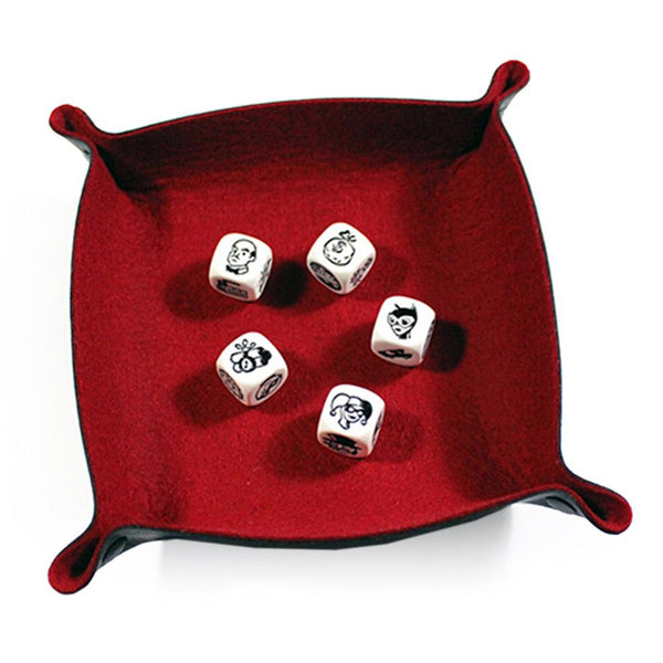 All Rolled Up Dice Tray - Scarlet - Imaginary Adventures