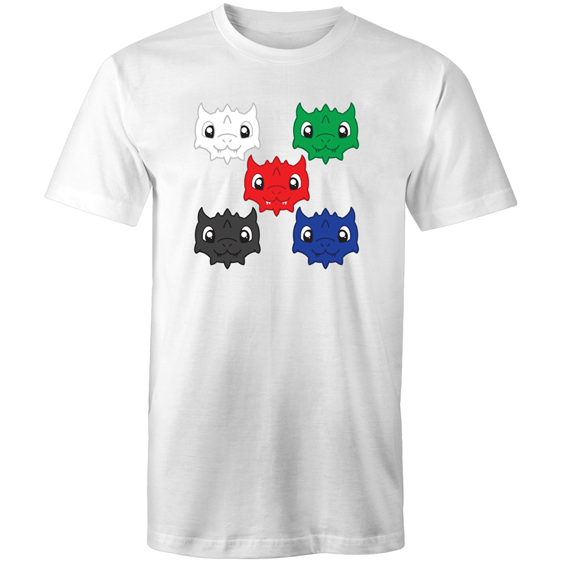 Cute Chromatic Dragons - Men's/Unisex T-Shirt - Imaginary Adventures