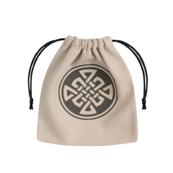 Basic Dice Bag - Celtic - Beige & black - Imaginary Adventures