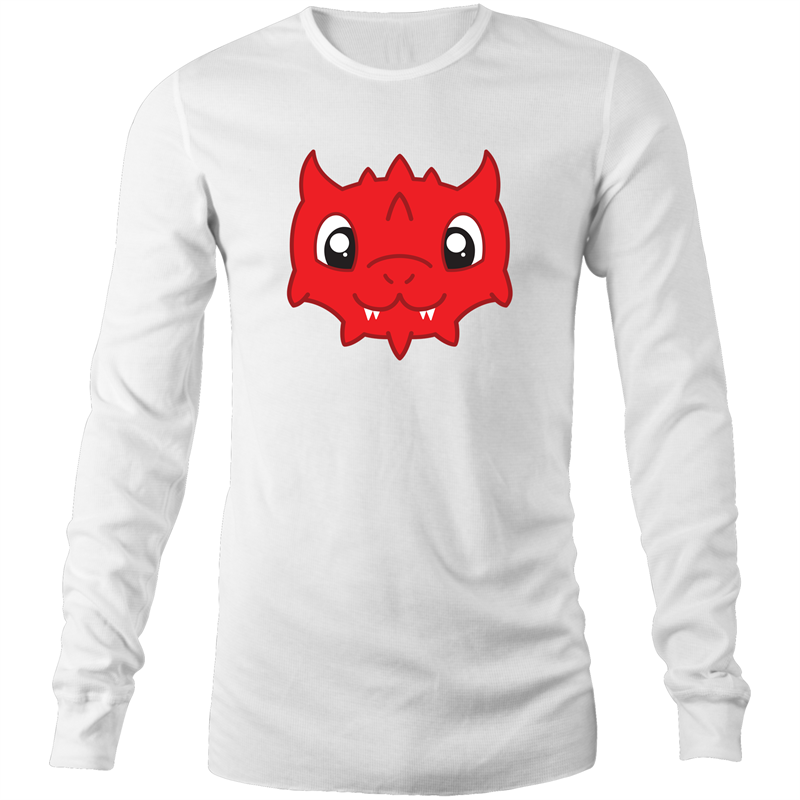 Cute Red Dragon - Long Sleeve Shirt - Imaginary Adventures