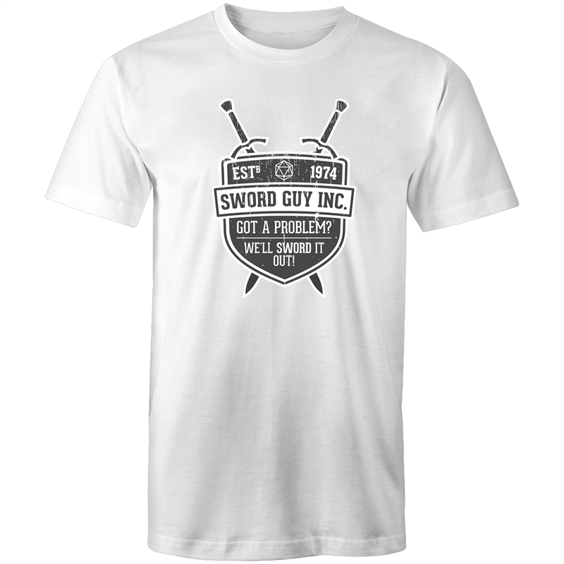 Sword Guy Inc. - Men's/Unisex T-Shirt - Imaginary Adventures