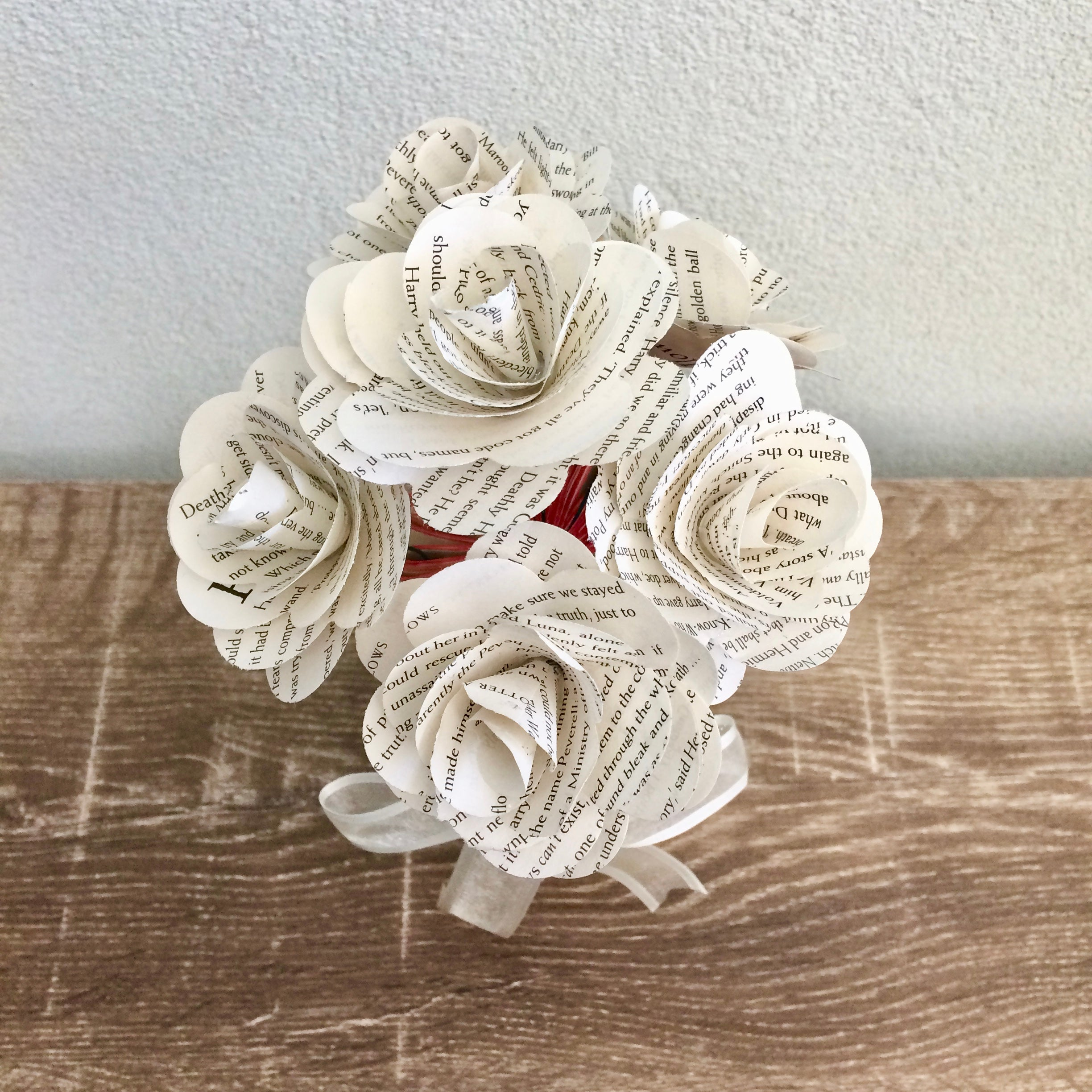 6 Book Paper Roses Gift Shack