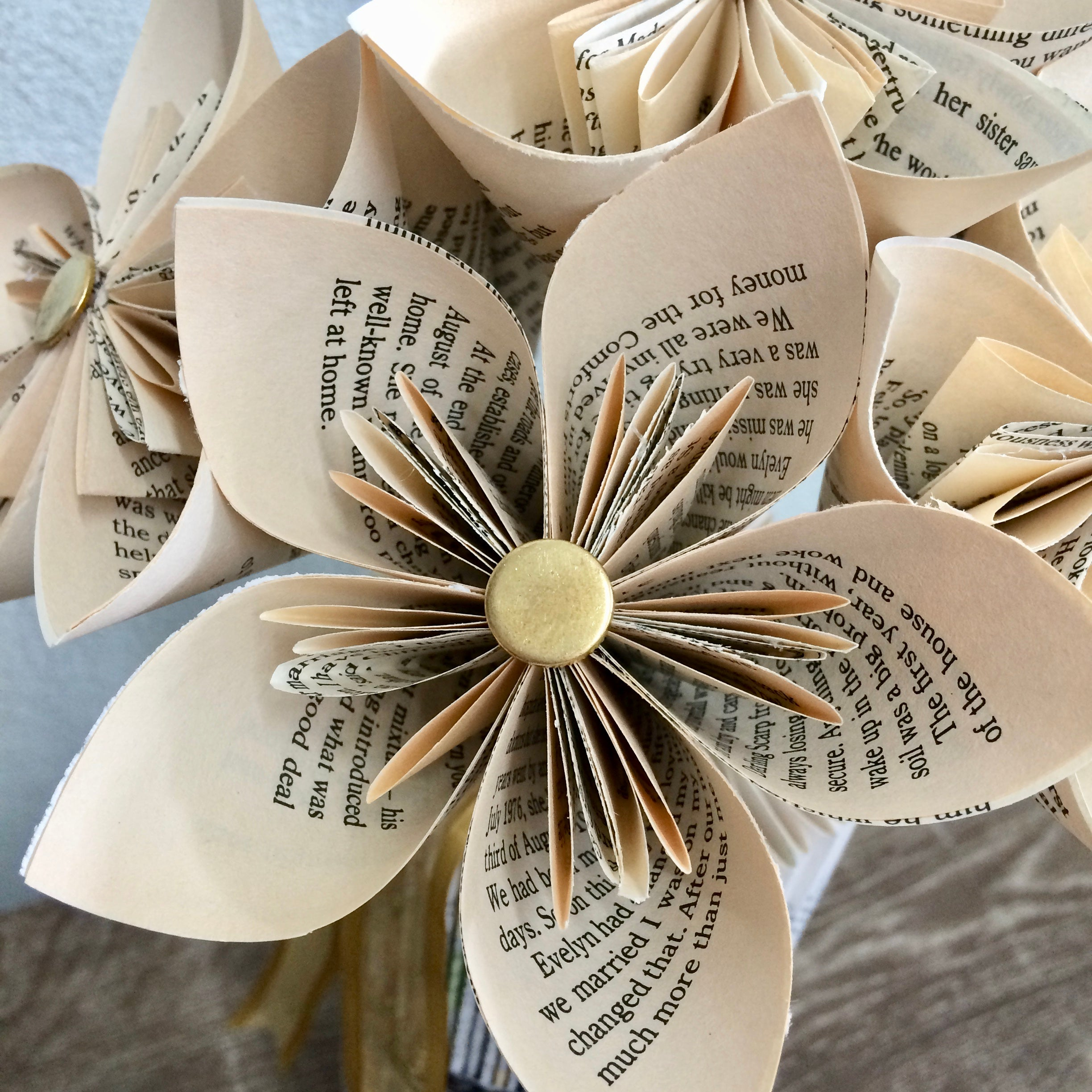 7 book paper kusudama flowers gift shack zoom of kusudama flower elegantly handcrafted from the pages of a book mightylinksfo