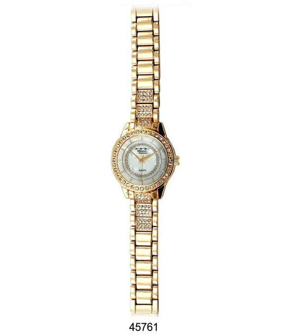 M Milano Expressions Gold Metal Band Watch