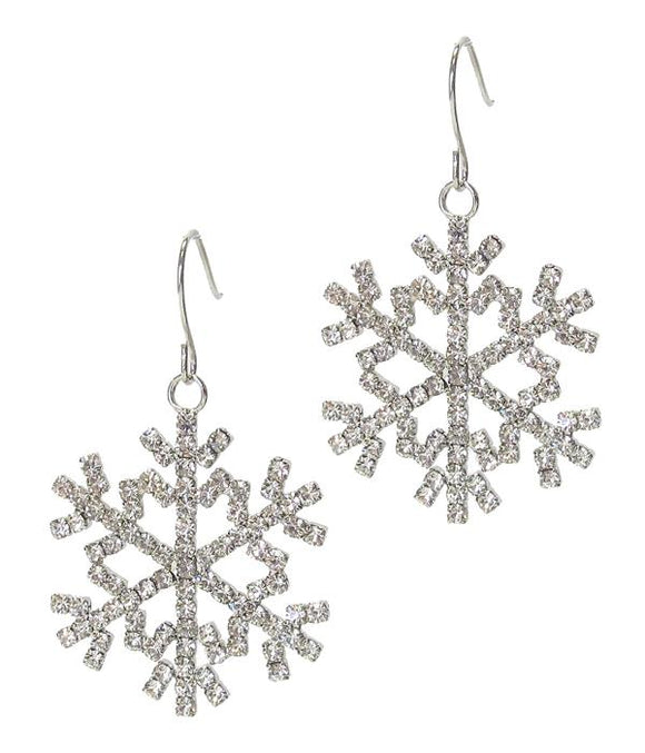 Snowflake Dangle Crystal Earrings