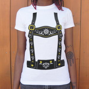 Lederhosen  T-Shirt (Ladies)