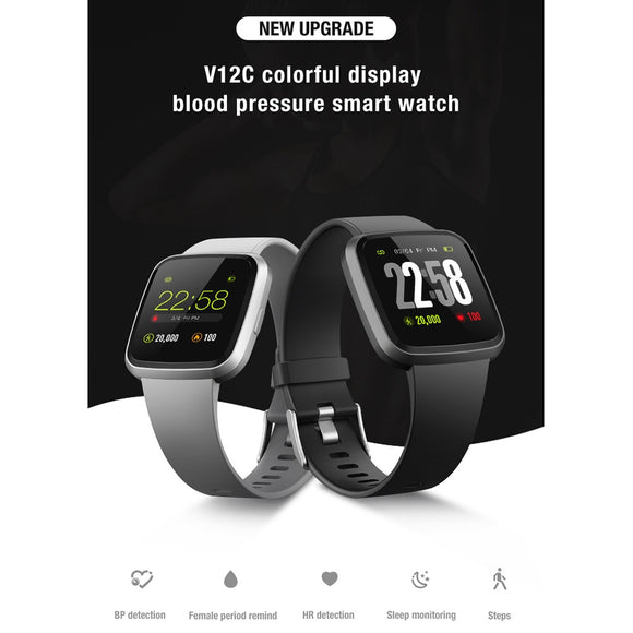 V12C Smart Watch Bracelet Fitness Tracker Blood