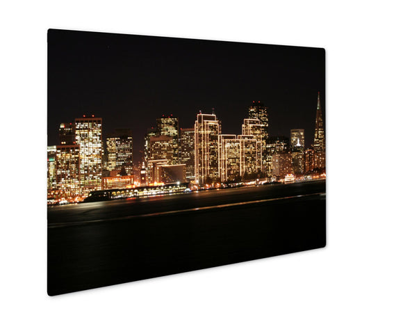 Metal Panel Print, Sf Skyline