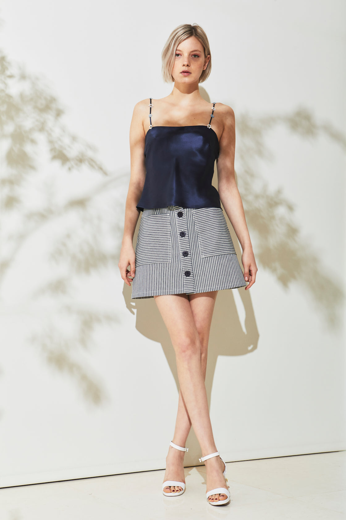 Graff Denim Mini Skirt