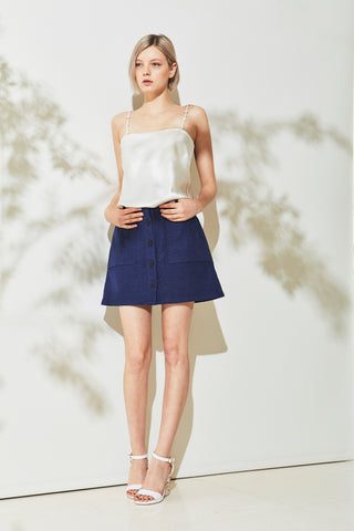 Graff Linen Mini Skirt