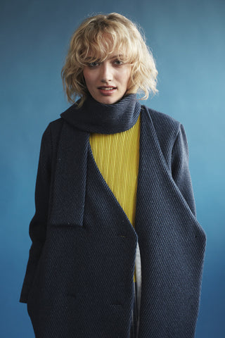 Double Breasted Scarf Coat
