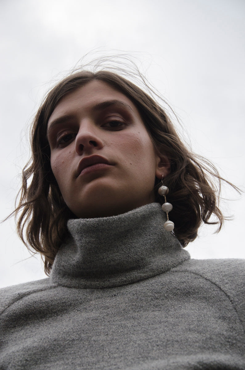 Boucle Funnel Neck