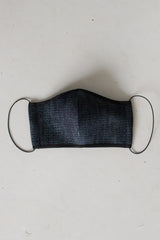 Face Mask with Elastic - Dark Denim