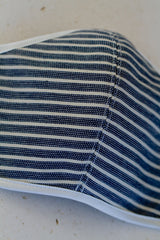Face Mask with Ties - Stripe