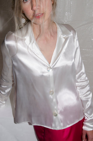 Silky Side Split Shirt