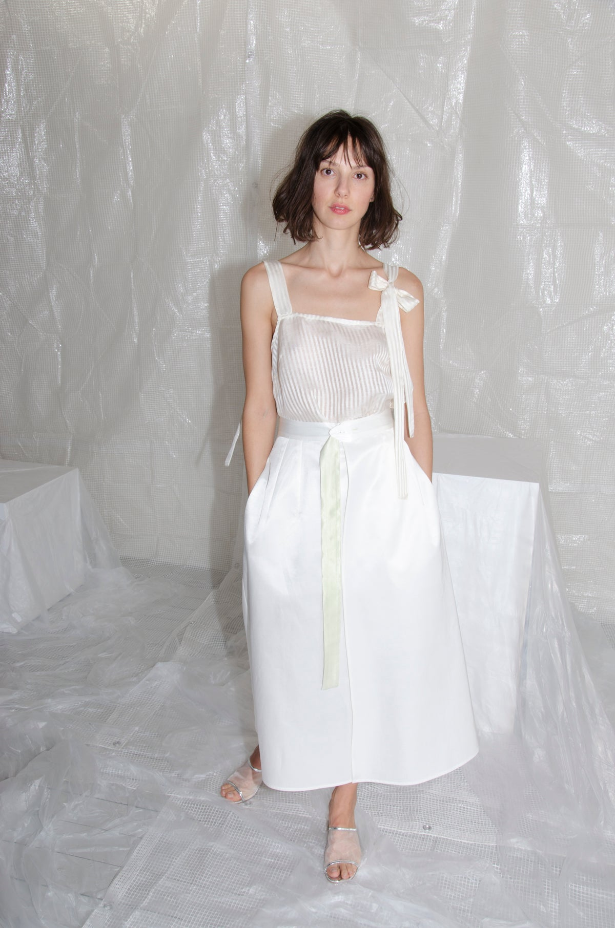 Off-White Bow Camisole Top