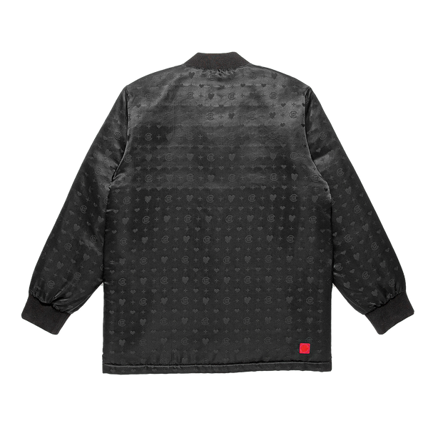 Clot X EU Heart Silk Jacket, Black