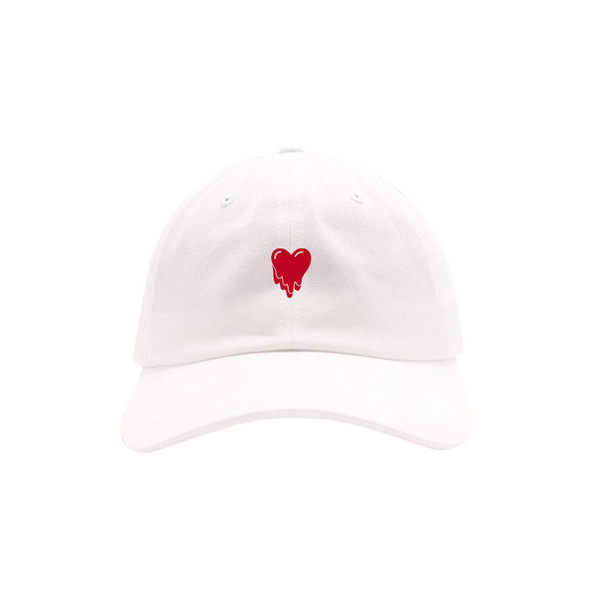 Heart Logo White Hat