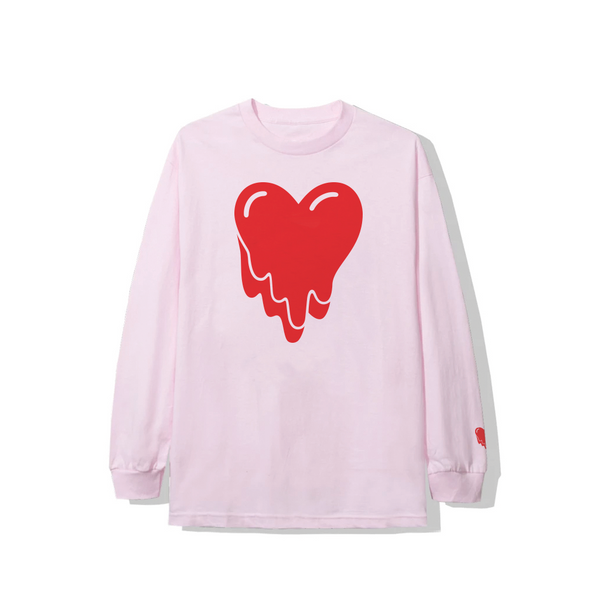 Heart Logo Long Sleeve Tee - Pink