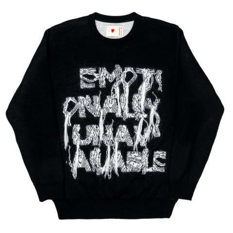 Emotionally Broken Gauge Knit Sweater