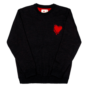 Melting Heart Gauge Knit Sweater