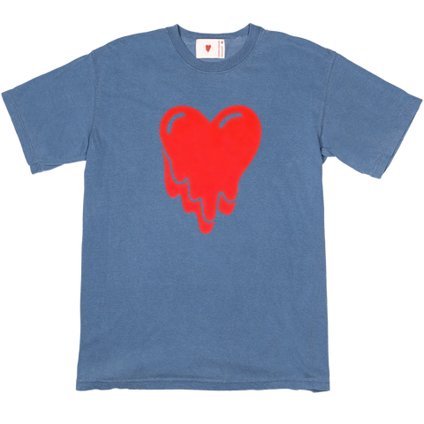 Melting Heart Tee, Blue Jean