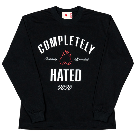 Completely Hated L/S Tee , Black