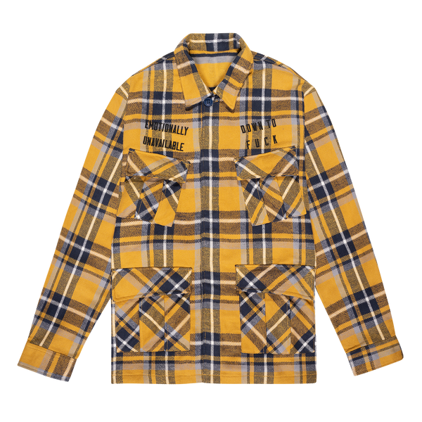 REVERSIBLE BDU LUMBERJACK - YELLOW/BLUE