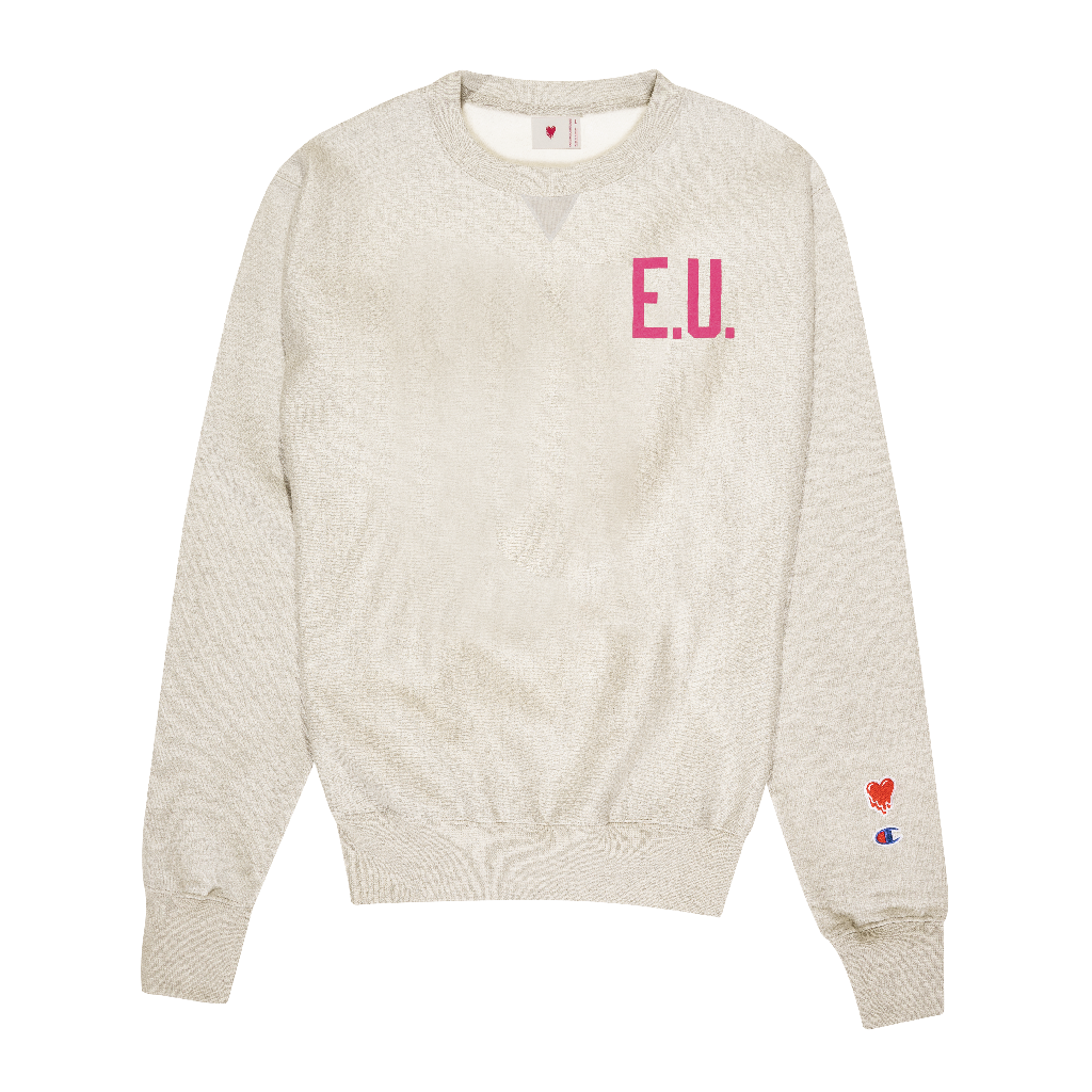 WORDMARK LOGO CREWNECK - CREAM
