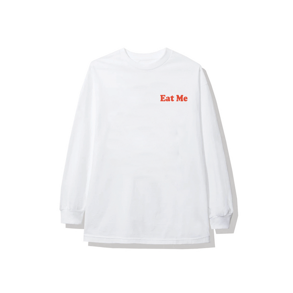 Eat Me White Long Tee