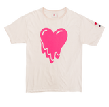 HEART LOGO TEE - CREAM
