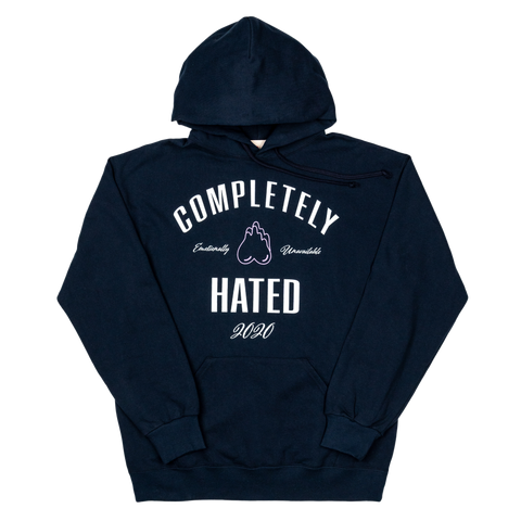 Completely Hated Sweat Hoodie , Navy
