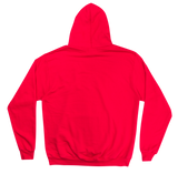 CHENILLE HEART LOGO HOODIE - RED