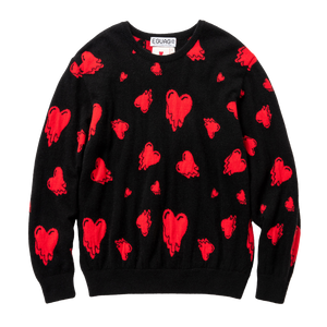 Cashmere Heart Sweater, Black