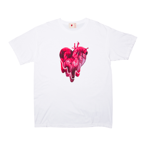 Organ Heart Tee, White