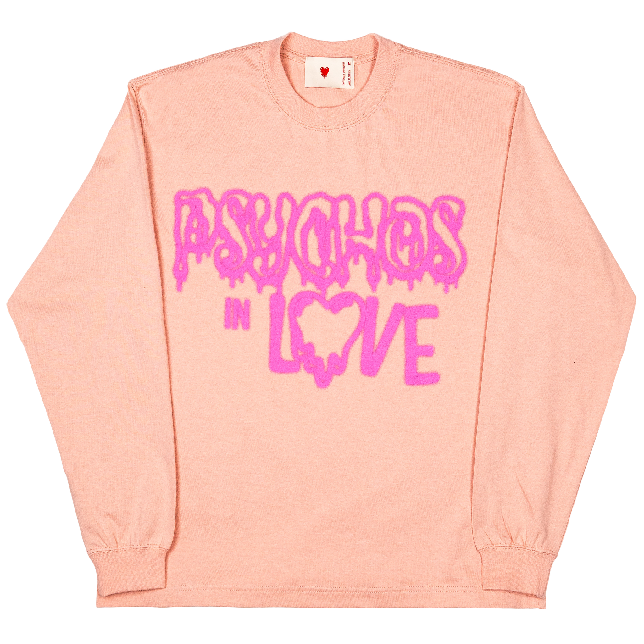 Psychos In Love L/S Tee, Pink