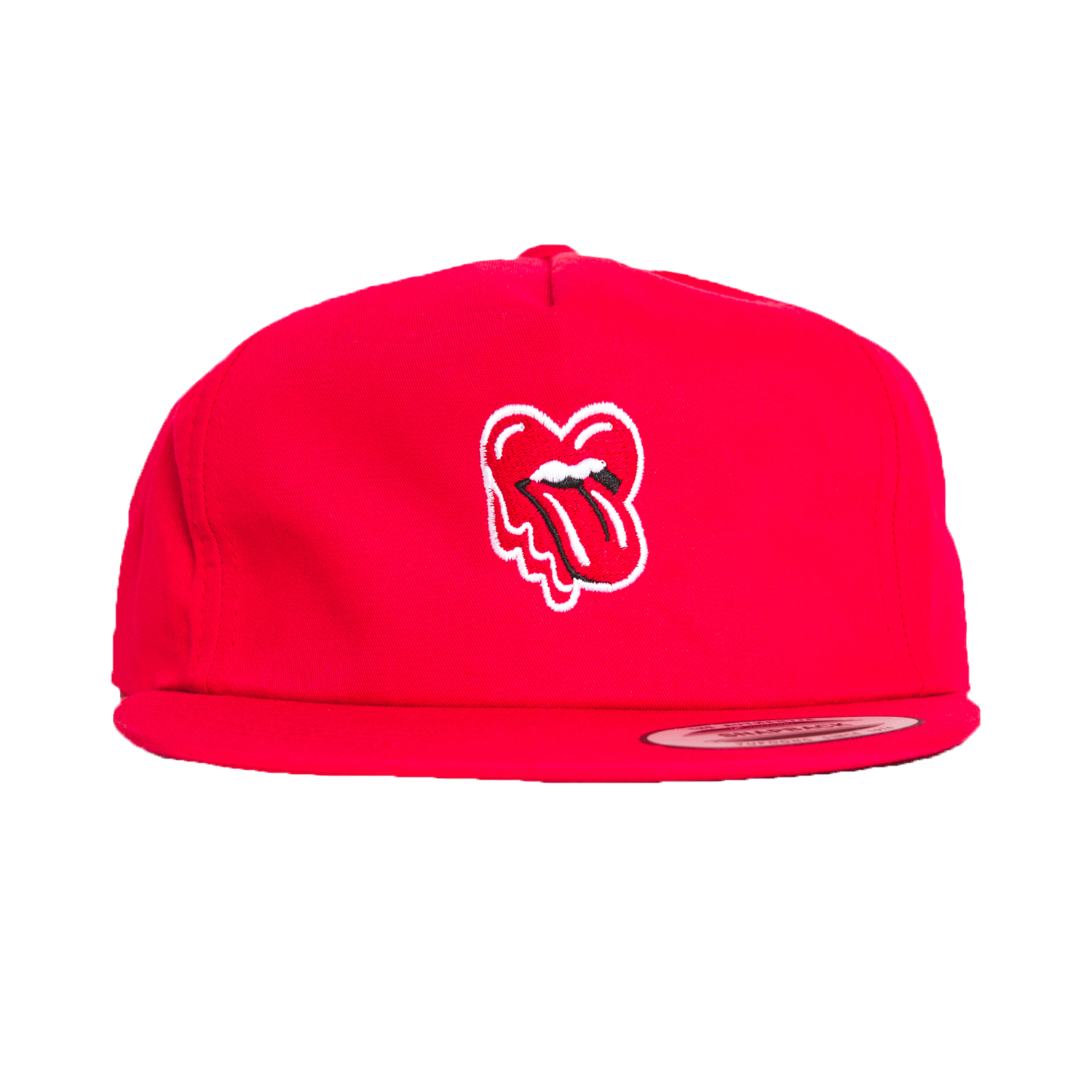 Tongue Heart 5-Panel Hat, Red