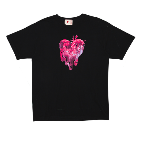 Organ Heart Tee, Black