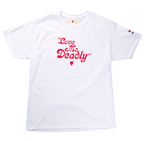 LOVE ME DEADLY TEE - WHITE