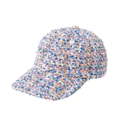 Cap - Fancy Tweed, Blue