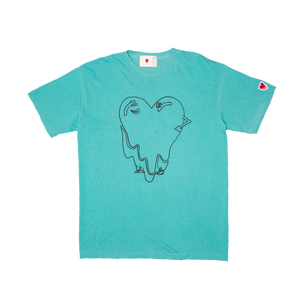 Melting Heart Character Tee, Turquoise
