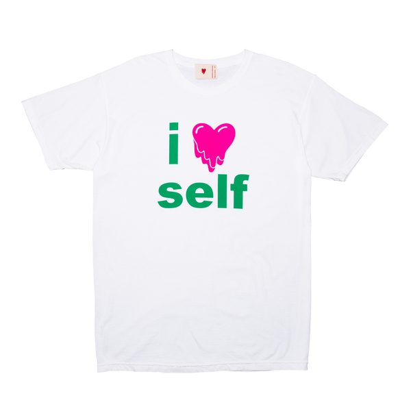 I Heart Self Tee, White