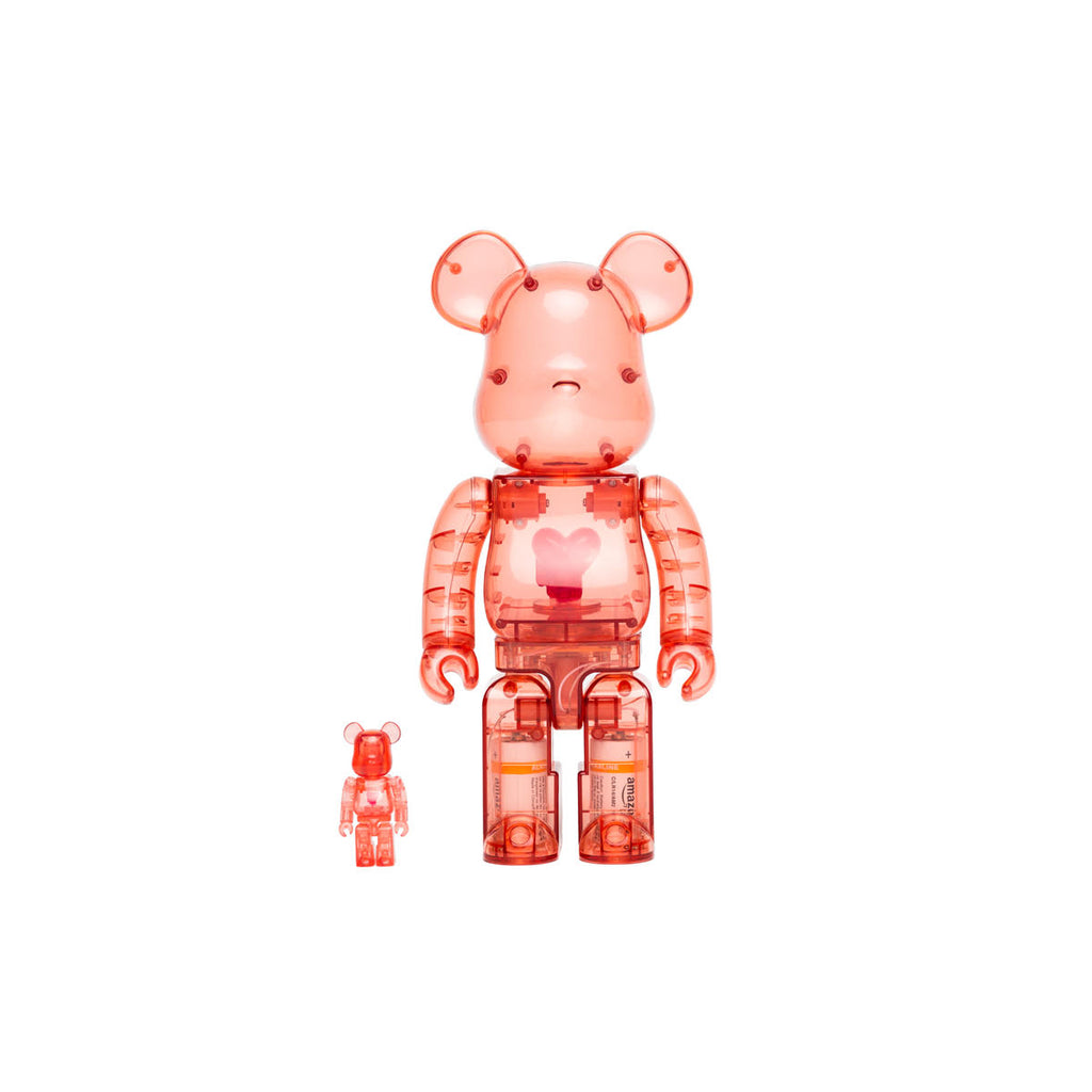 400% & 100% EU BE@RBRICK RED (RED HEART)